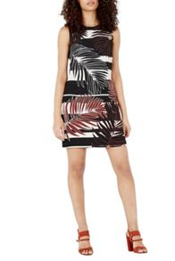 Warehouse Leaf Print Shift Dress