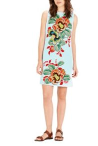 Warehouse Botanical Floral Shift Dress