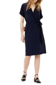 Warehouse Short Sleeve Wrap Dress