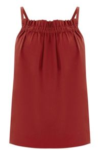 Warehouse Ruched Crepe Cami