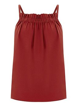 Ruched Crepe Cami