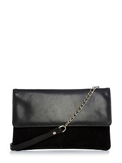 Suede And Leather Crossbody
