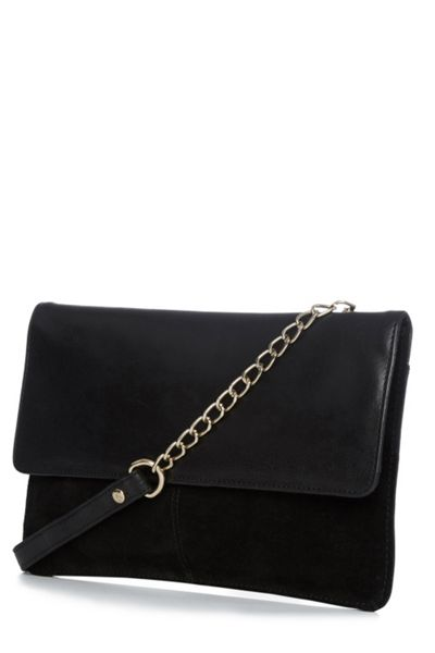 Warehouse Suede And Leather Crossbody