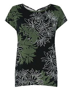 Shadow Leaf Floral Top