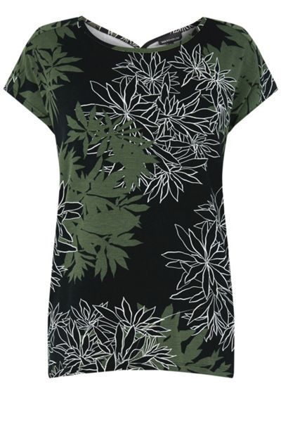 Warehouse Shadow Leaf Floral Top