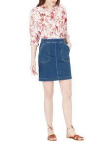 Warehouse Pocket Detail Denim Skirt