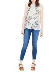 Warehouse Vintage Floral Woven Front Top