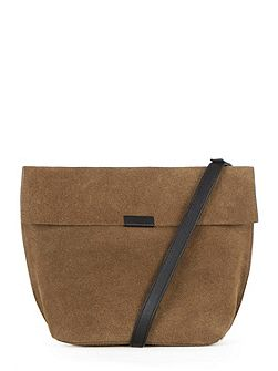 Exposed Seam Cross Body Bag