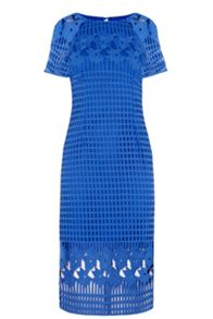 Warehouse Grid Lace Pencil Dress