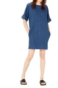 Warehouse Denim Shift Dress