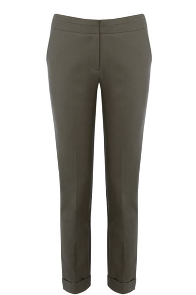 Warehouse Compact Cotton Trousers