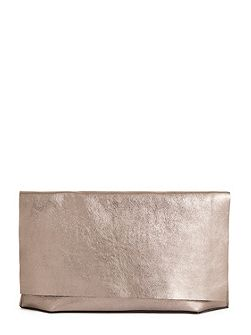 Premium Leather Slouch Clutch