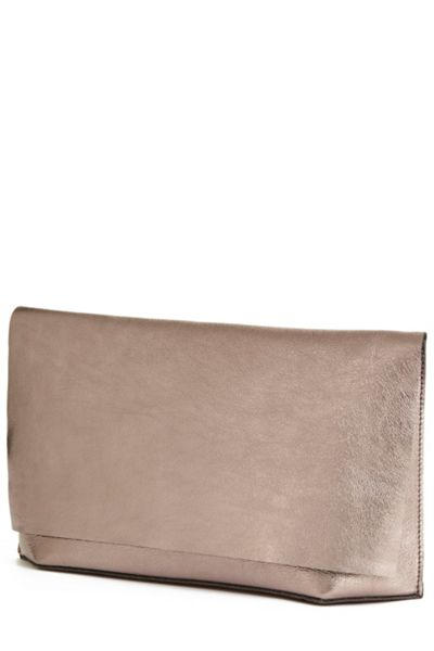 Warehouse Premium Leather Slouch Clutch