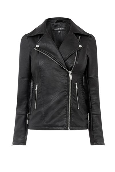 Warehouse Pu Biker Jacket