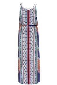 Warehouse Bright Aztec Midi Dress