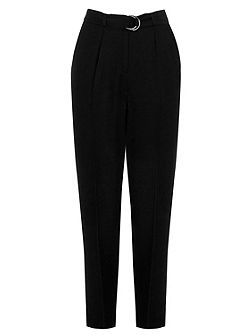 Soft Belted Peg Trousers