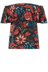 Warehouse Botanical Drawn Floral Top