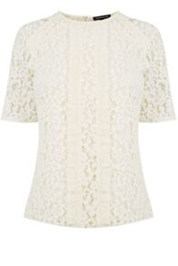 Warehouse Lace Ruffle Top