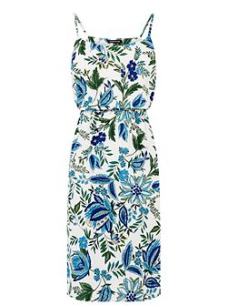 Botanical Drawn Floral Dress