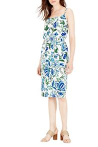 Warehouse Botanical Drawn Floral Dress