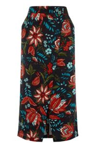 Warehouse Botanical Drawn Floral Skirt