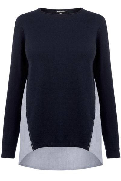 Warehouse Cotton Mix Hybrid Jumper
