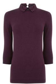 Warehouse Lace Collar Detail Jumper