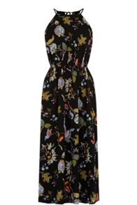 Warehouse Butterfly Print Midi Dress