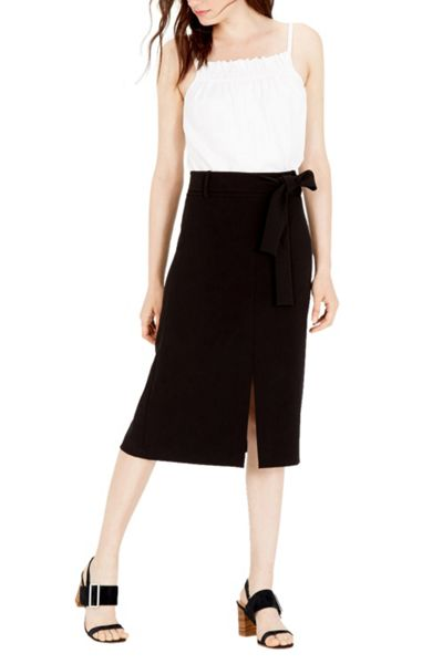 Warehouse Belted Midi Skirt