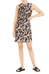 Warehouse Diamond Ikat Shift Dress