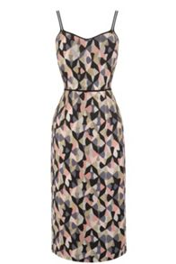 Warehouse Diamond Ikat Strappy Dress