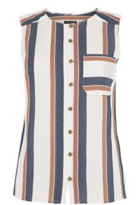 Warehouse Stripe Sleeveless Shirt