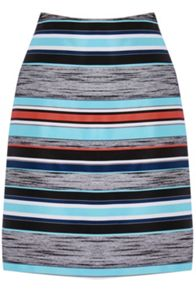 Warehouse Stripe Jacquard Skirt