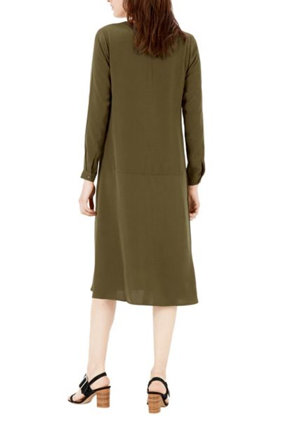 Warehouse Dropped Waist Shirt Dress