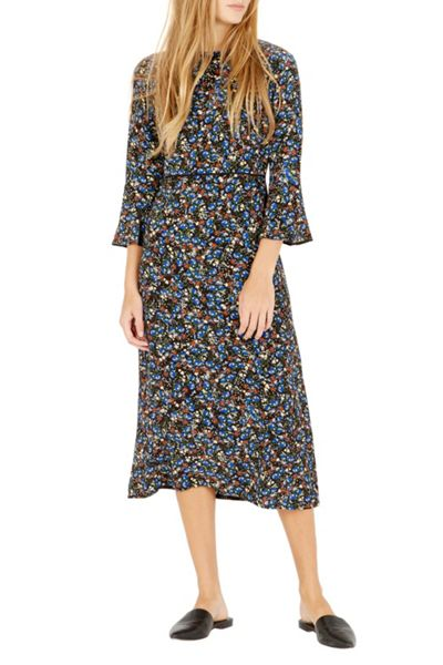 Warehouse Ditsy Floral Midi Dress