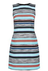 Warehouse Jacquard Stripe Shift Dress