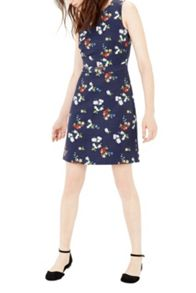 Warehouse Spaced Floral Shift Dress