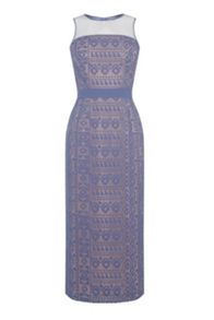 Warehouse Lace Pencil Dress