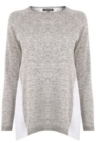 Warehouse Mixed Fabric Lace Jumper