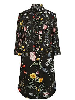 Scatter Floral Shirt Dress