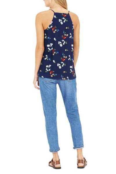 Warehouse Spaced Floral Cami Top