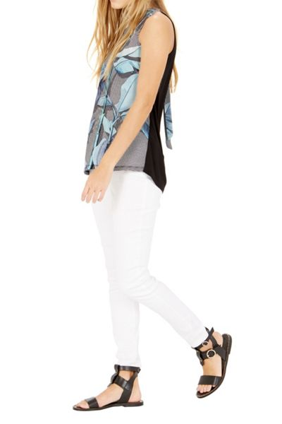 Warehouse Palm Woven Front Top