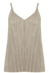Warehouse Twist Plisse Top