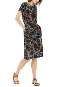 Warehouse Meadow Floral Wrap Dress
