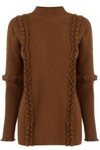 Warehouse Ruffle Detail Boxy Jumper