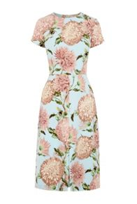 Warehouse Pom Pom Floral Print Dress