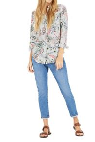 Warehouse Meadow Floral Grandad Shirt