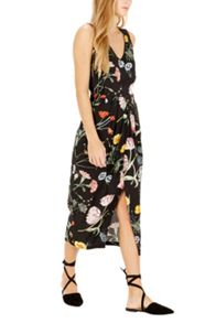 Warehouse Scatter Floral Sleeveless Midi