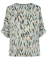 Warehouse Zig Zag Print Top