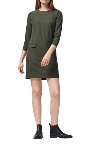 Warehouse Pocket Front Shift Dress